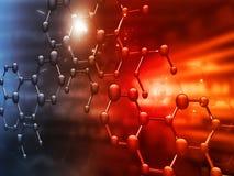 Estructura molecular Imagen de archivo libre de regalías
