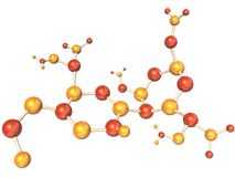 Estructura molecular abstracta libre illustration