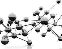 Estructura molecular abstracta Fotografía de archivo