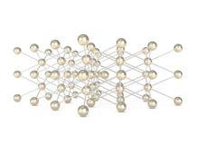 Estructura molecular abstracta aislada en blanco Imagenes de archivo