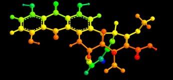 estructura molecular antibiótico Fotos de archivo libres de regalías