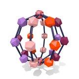 estructura molecular 3d Fotografía de archivo