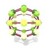 estructura molecular 3d Fotos de archivo