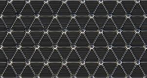 Estructura molecular de acero simple Imagen de archivo