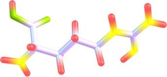 Estructura molecular de la arginina en el fondo blanco Imagenes de archivo