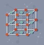 Estructura molecular de la ciencia Fotos de archivo libres de regalías