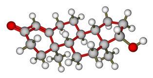 Estructura molecular de la testosterona Imágenes de archivo libres de regalías