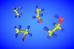 Estructura molecular del alcohol de consumición del etanol, alcohol etílico Fondo médico ilustración 3D libre illustration