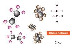 Estructura molecular del etano Fotografía de archivo