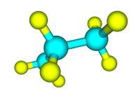 Estructura molecular del propano en blanco Imágenes de archivo libres de regalías