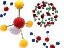 Estructura molecular en 3d Foto de archivo libre de regalías