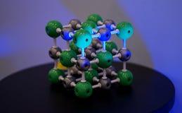 Estructura molecular y vinculación Imagen de archivo libre de regalías