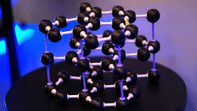 Estructura molecular y vinculación Imagenes de archivo