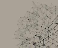 Estructura nodal abstracta Fotografía de archivo