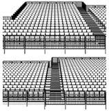 Estructura que ensambla para el vector 03 de los estadios de los deportes ilustración del vector