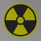 Estructura radiactiva del pictograma de cuerdas Fotos de archivo
