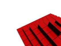 Estructura roja de la pirámide del raytrace Foto de archivo libre de regalías