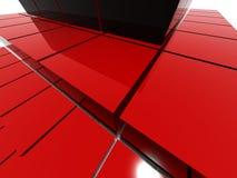 Estructura roja de la pirámide del raytrace Fotos de archivo libres de regalías