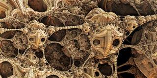 Estructuras abstractas fantásticas del fondo 3d foto de archivo libre de regalías
