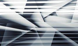 Estructuras acodadas multi caóticas, ejemplo 3d ilustración del vector
