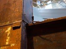 9-11 estructuras de acero de los tridentes conmemorativos del museo del destruidas Foto de archivo libre de regalías