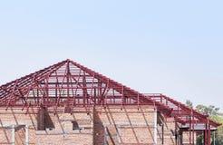 Estructuras de acero del marco del tejado Fotografía de archivo