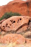 Estructuras de la roca de Ayers en NT Australia Fotografía de archivo