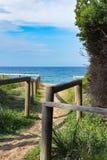 Estructuras de madera en la playa Foto de archivo libre de regalías