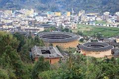 Estructuras de tierra de Fujian Imagenes de archivo