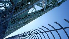 Estructuras del metal de Jacques Cartier Bridge foto de archivo