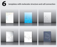 Estructuras moleculares Imagen de archivo
