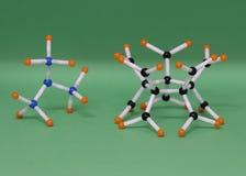 Estructuras moleculares imágenes de archivo libres de regalías