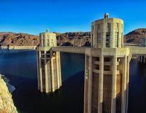 Estructuras Nevada de la Presa Hoover fotos de archivo