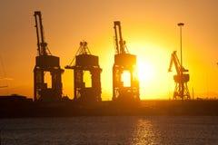 Estructuras portuarias imagen de archivo