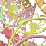 Estructuras químicas multicoloras en blanco Fotos de archivo libres de regalías