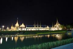 Estructuras suplementarias hermosas alrededor del crematorio real para la cremación real de su rey Bhumibol Adulyadej, Sanam L de Fotografía de archivo libre de regalías