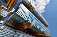 Estrusioni di alluminio Fotografie Stock Libere da Diritti
