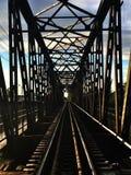 A estrutura, aço, trilhos railway, pontes Fotos de Stock Royalty Free