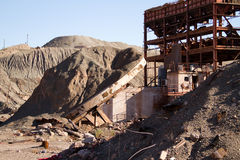 Estrutura abandonada da mina Foto de Stock Royalty Free