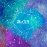 Estrutura abstrata da aquarela com a mancha da pintura do aquarelle Ilustração do vetor Fotos de Stock