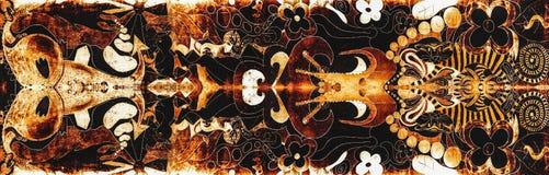 Estrutura abstrata da textura do preto do ouro Imagem de Stock