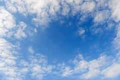 Estrutura abstrata das nuvens. Fotografia de Stock