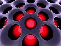 Estrutura alta tecnologia abstrata. 3d rendeu a imagem. Foto de Stock Royalty Free