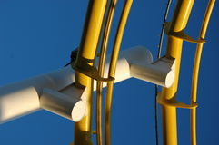 Estrutura amarela Fotos de Stock