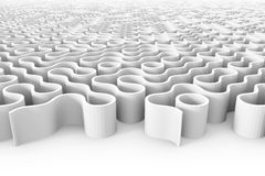 Estrutura arredondada enorme do labirinto com entradas múltiplas Imagens de Stock
