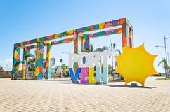 Estrutura bem-vinda na entrada da cidade da sagacidade de Porto Velho Imagens de Stock Royalty Free
