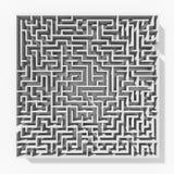 Estrutura branca do labirinto 3d Foto de Stock
