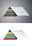 Estrutura colorida da pirâmide Imagem de Stock