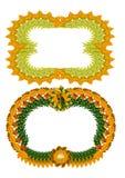 Estrutura com folhas de outono Imagens de Stock Royalty Free