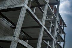Estrutura concreta na construção imagem de stock